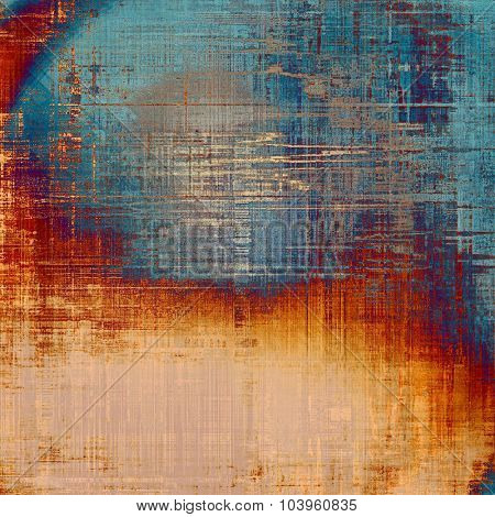 Old grunge textured background. With different color patterns: yellow (beige); gray; blue; red (orange)