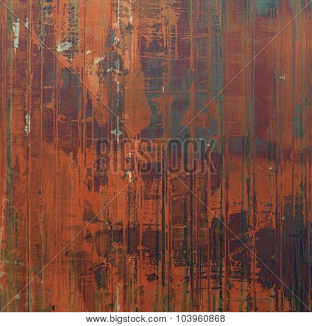 Abstract old background with rough grunge texture. With different color patterns: brown; black; gray; red (orange)