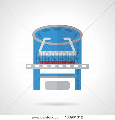 Colored xray machine flat vector icon