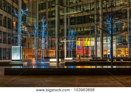 Christmas Lights Decoration At Gloucester Court In London