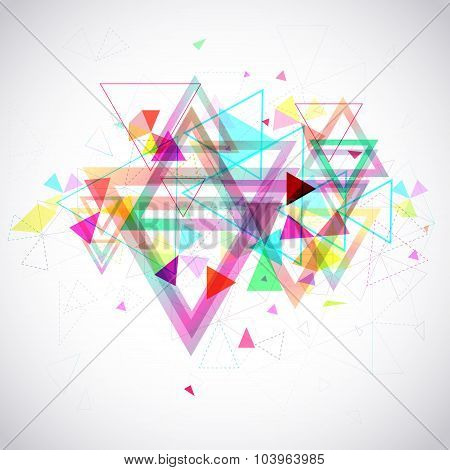 Abstract Background Of Hexagon And Triangle Geometric Geometry Polygon And Element Shape For Poster