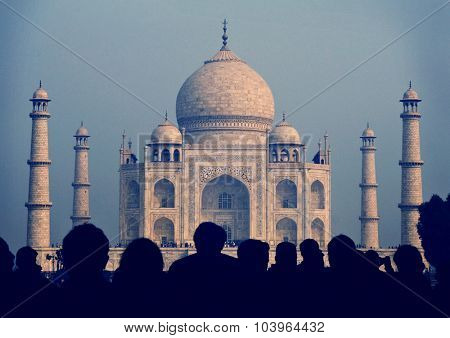 Taj Mahal India Seven Wonders Famous Place Concept