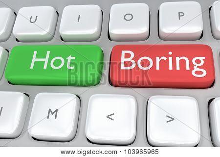 Hot/boring Concept