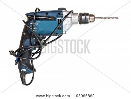 Drill isolated on white background