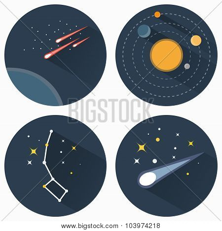 Stars Constellations Icons
