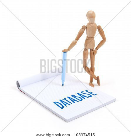 Wooden Mannequin Writing - Database