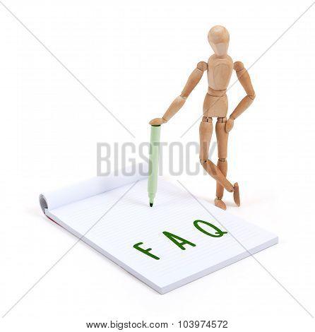 Wooden Mannequin Writing - Faq