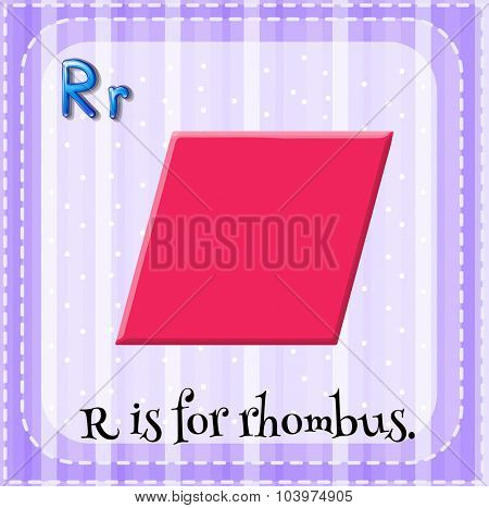 Alphabet R is for rhombus illustration