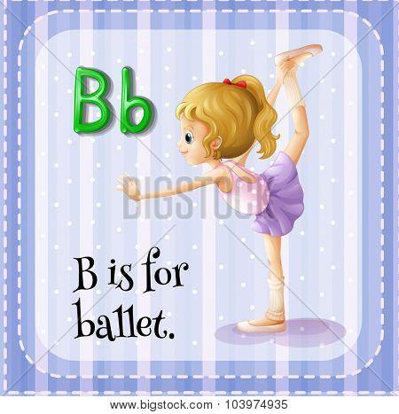 Alphabet B is for ballet illustration