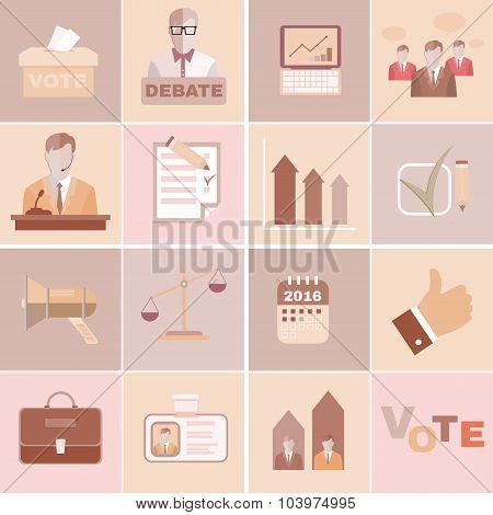 Presidential Debates Vector Icons
