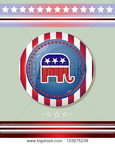 Republican Party Elephant Symbol Banner
