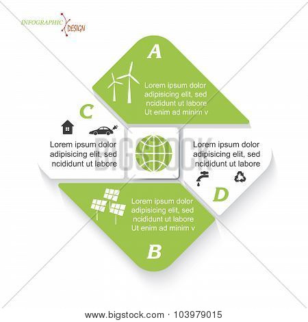 Green Energy Business Concept. Vector Infographic Template