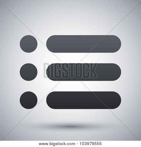 Vector Web Site Menu Icon