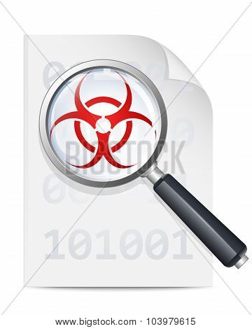 Virus Scan Icon. Vector