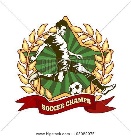 Soccer championship label