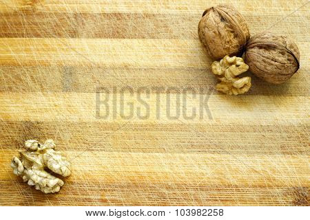 Walnut Wooden Table Background