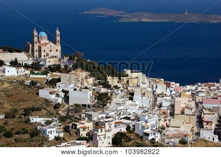 Church in Ermoupoli, Syros Island, Cyclades Islands