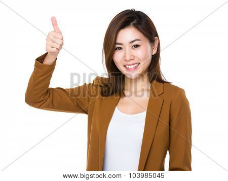 Young Businesswoman with thumb up