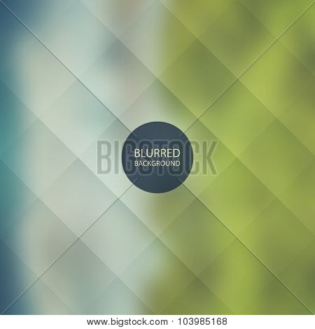 Abstract Background with Blurred Image - Blue and Green