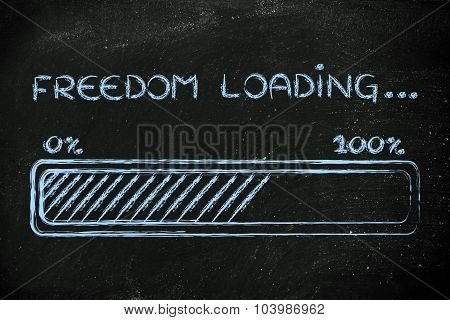 Freedom Loading, Progess Bar Illustration