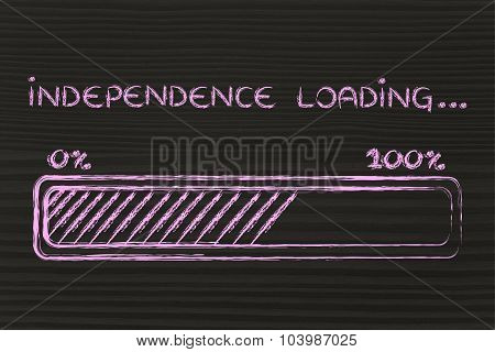Independence Loading, Progess Bar Illustration