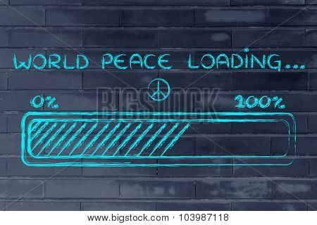 World Peace Loading, Progess Bar Illustration