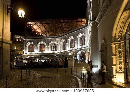 Lateral View Of Rossio Station Building