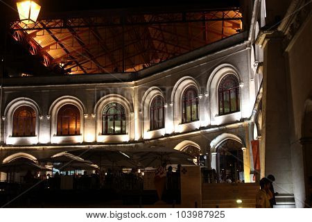 Lateral View Of Rossio Station Building At Night