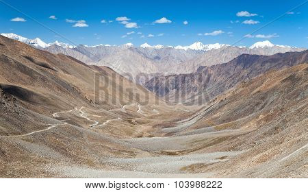 View From Khardung La Pass To Karakoram Range