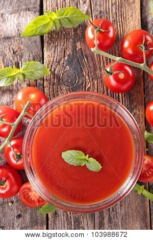 tomato soup,sauce or gazpacho