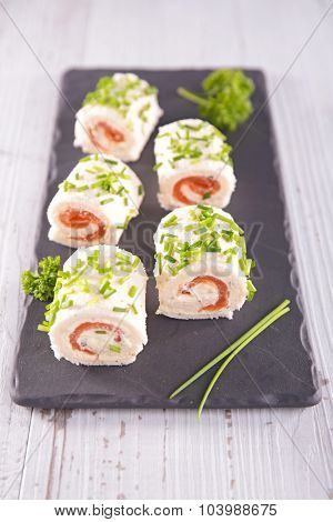 canapes on board