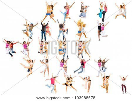 People Celebrating Big Group