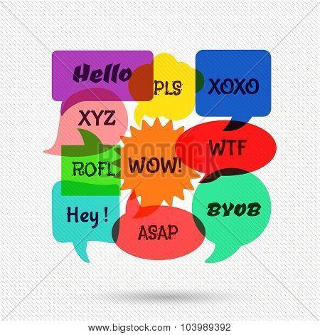 Speech bubbles with short messages