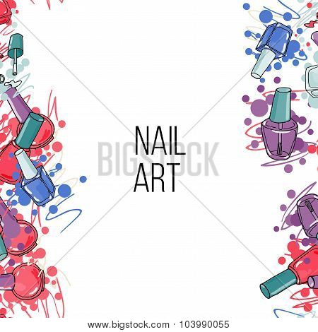 Vector nail lacquer bottles
