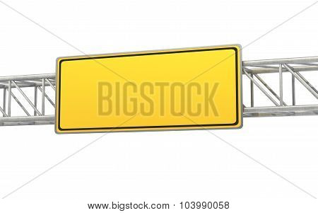Empty Yellow Sign,  Road Sign