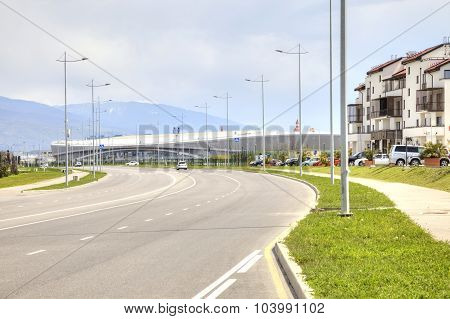 Sochi. Adler. Olympic Village And Stadium