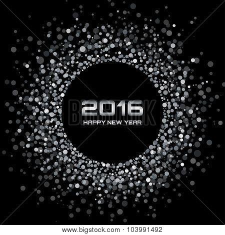 White - Black New Year 2016 Background