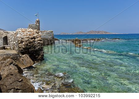 Venetian fortress in Naousa town, Paros island, Cyclades