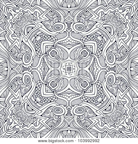 Abstract vector decorative nature ethnic hand drawn pattern