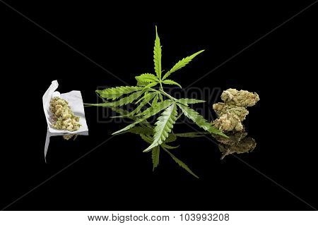 Marijuana Background.