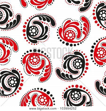 Red And Black Abstract Seamless Background
