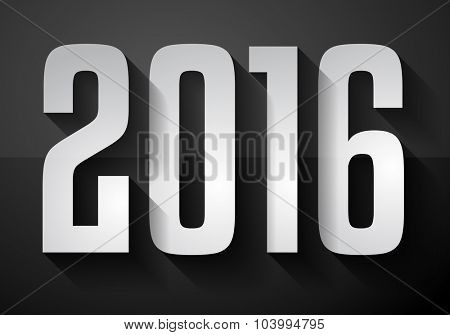 2016 New Year Background for modern seasonal card, flyer templates, greetings card cover and so on