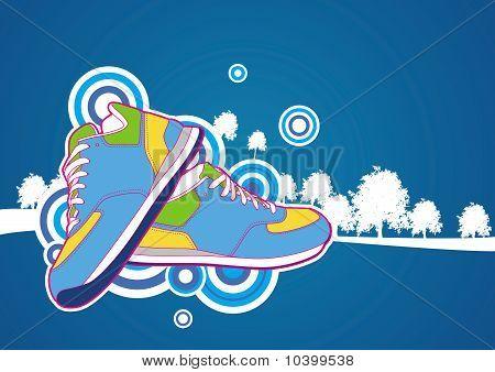Sneakers illustration