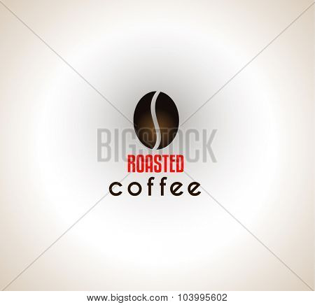 Conceptual Coffee Text with stylized Icon to use as design element in your cover or packaging templates.