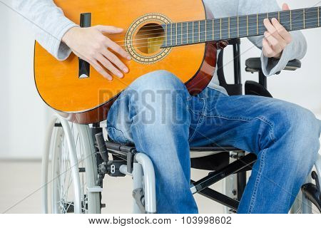 Disabled guitarist