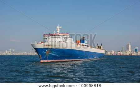 Cargo Ship On Izmir