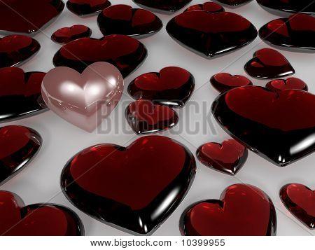 A pearl heart