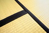 stock photo of futon  - three tatami mats - JPG