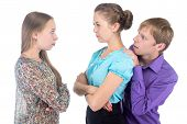 Cowardly Young Man And Two Women poster