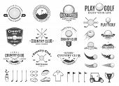 Постер, плакат: Golf Country Club Labels Icons And Design Elements